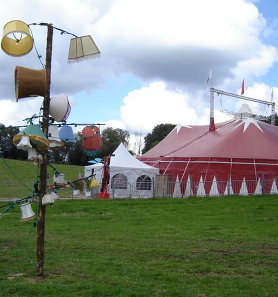 Le chapiteau du festival de Vassivière en Limousin